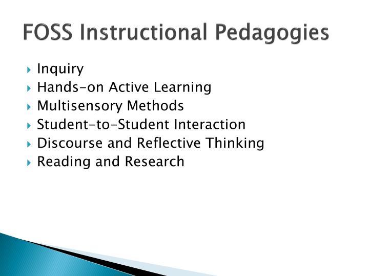 FOSS Instructional Pedagogies