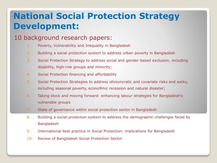 National Social Protection Strategy