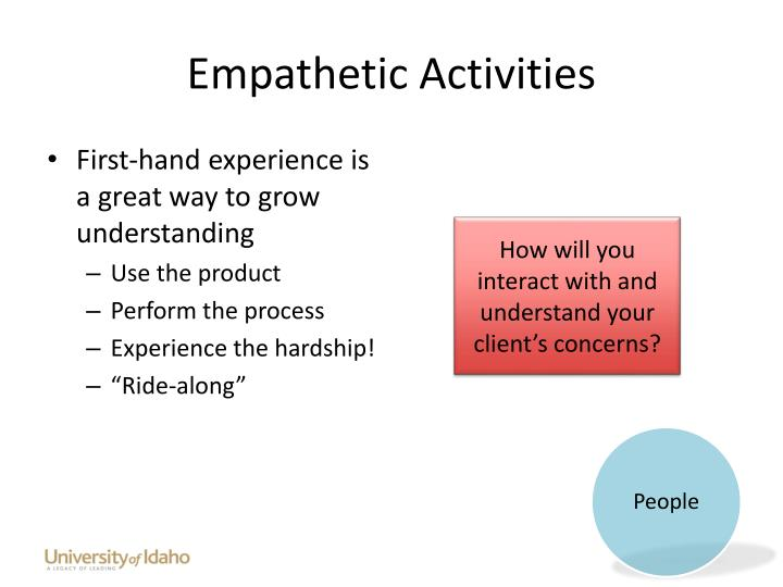 Empathetic Activities