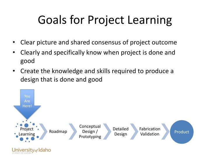 Goals for Project Learning