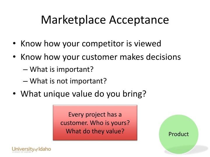 Marketplace Acceptance