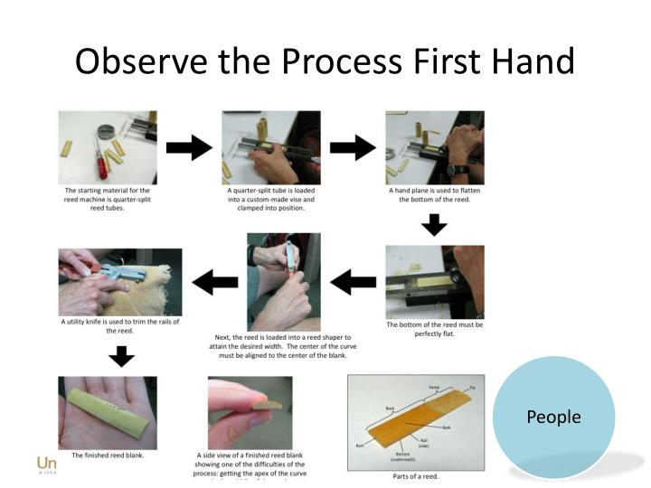 Observe the Process First Hand