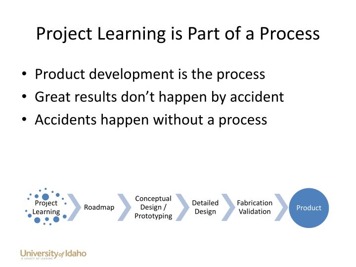 Project Learning is Part of a Process