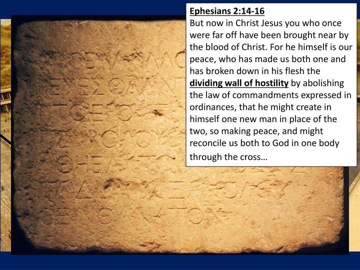 Ephesians 2:14-16