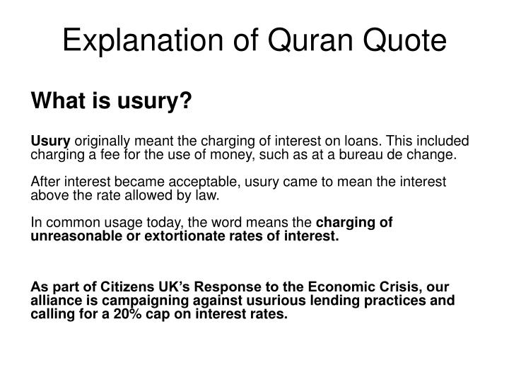 Explanation of Quran Quote