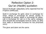 reflection option 2 qur an hadith quotation