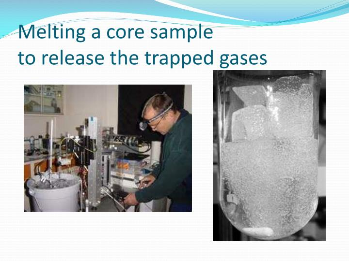 Melting a core sample