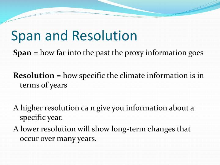 Span and Resolution
