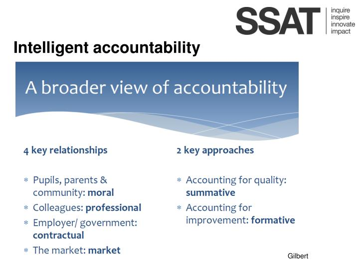 Intelligent accountability