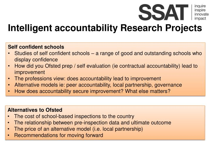 Intelligent accountability Research Projects