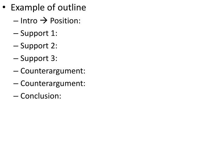 Example of outline