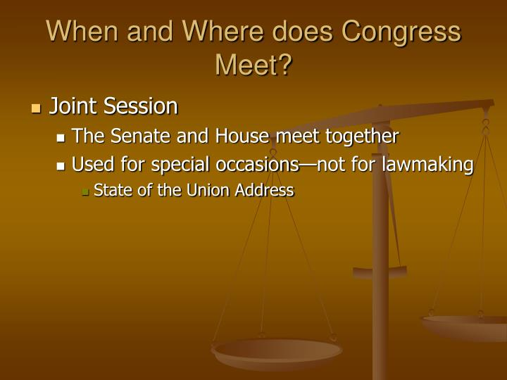where does the senate and congress meet