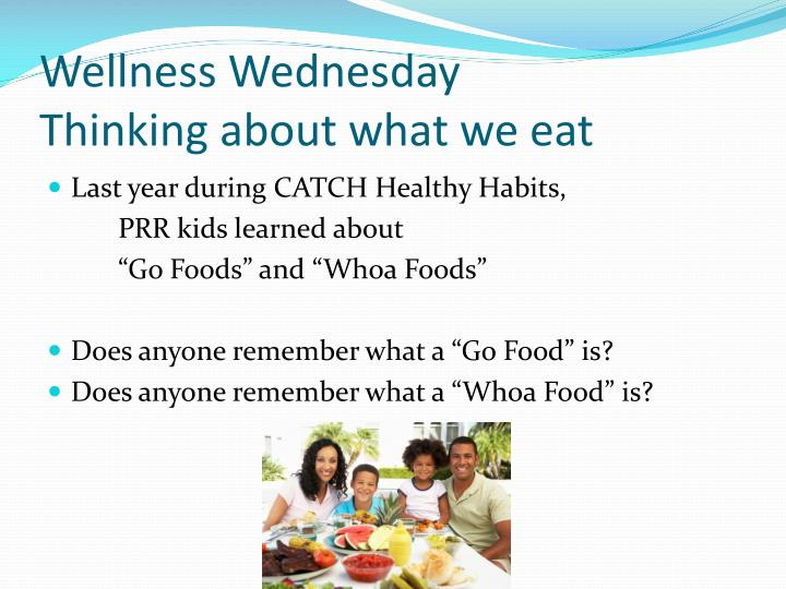 Wellness wednesday thinking about what we eat