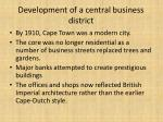 development of a central business district