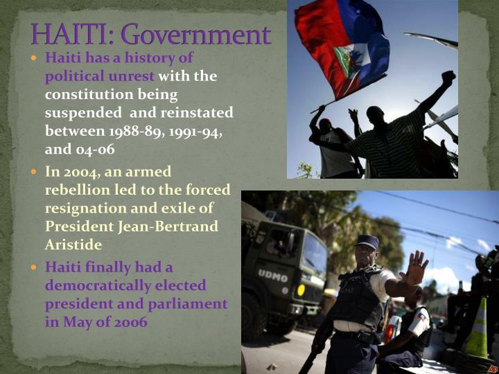 HAITI: Government