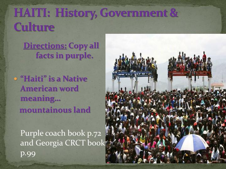 haiti history government culture