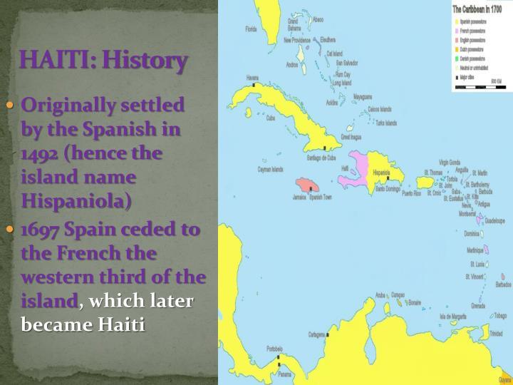 HAITI: History