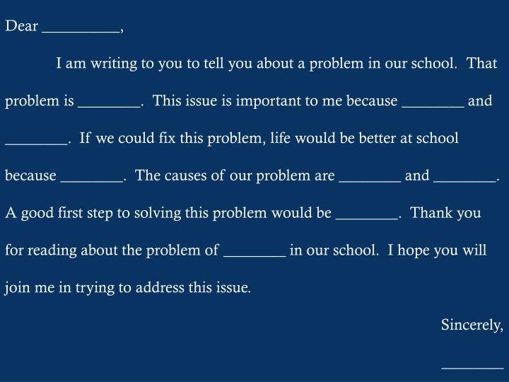 Dear __________,