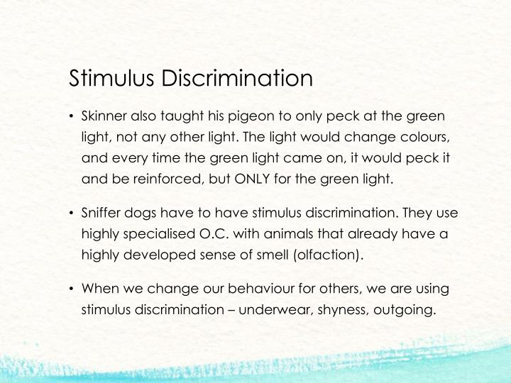 Stimulus Discrimination