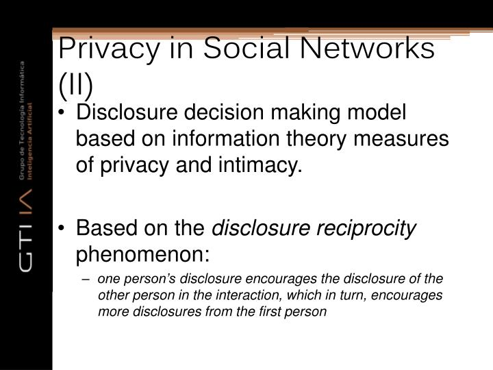 Privacy in Social Networks (II)