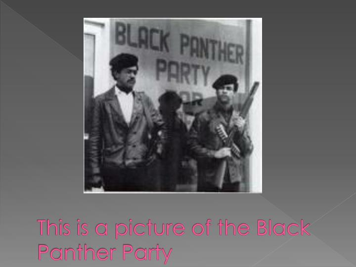 This is a picture of the Black Panther Party