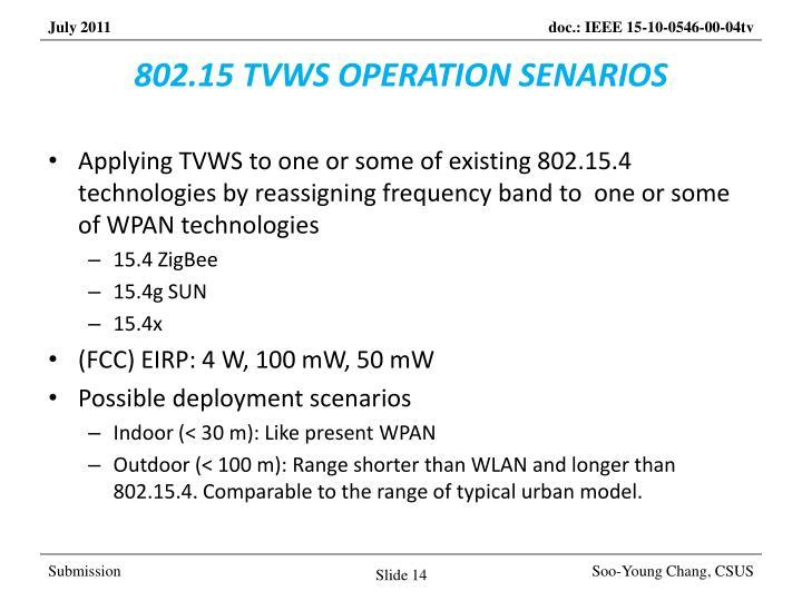802.15 TVWS OPERATION