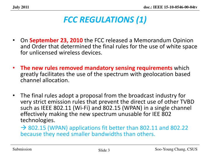 Fcc regulations 1