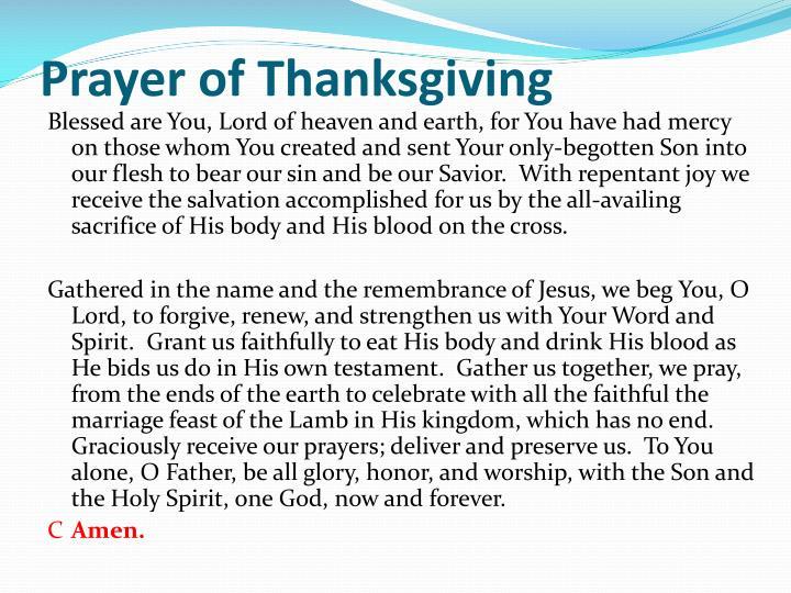 Prayer of