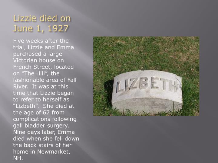 Lizzie died on