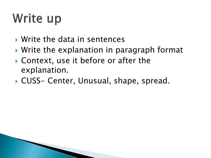 Write up