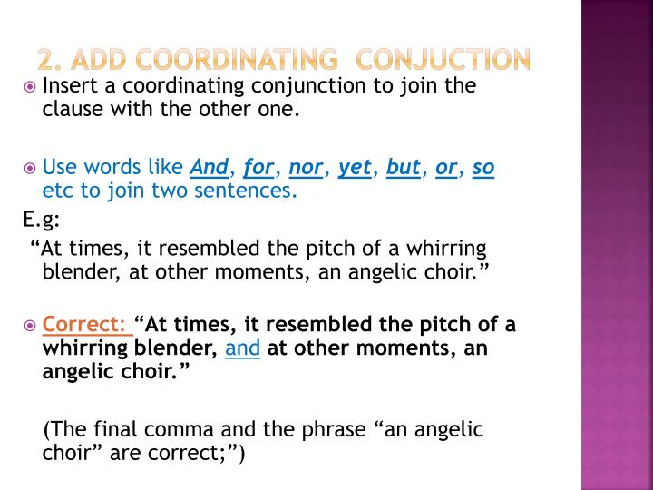 2. Add coordinating