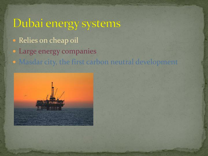 Dubai energy systems