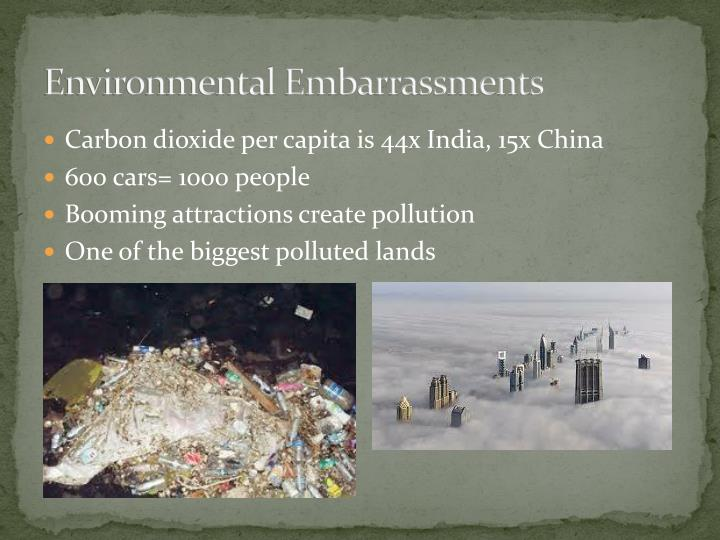 Environmental Embarrassments