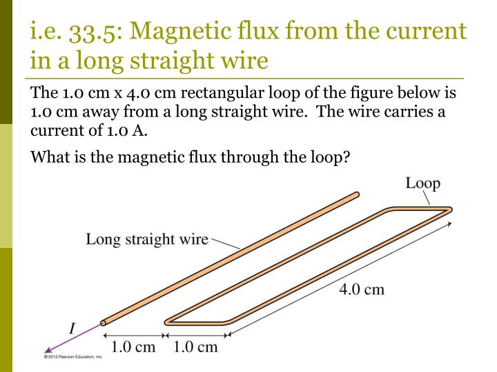 i.e. 33.5: Magnetic flux from the current in a long straight wire