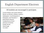 english department electives