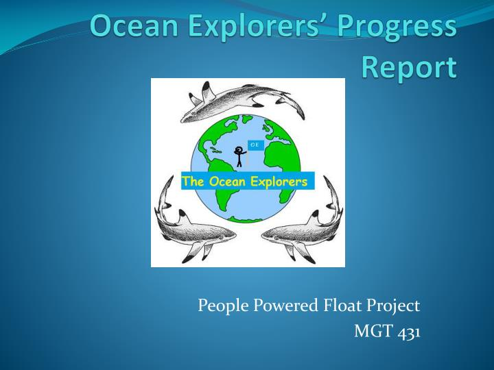 ocean explorers progress report