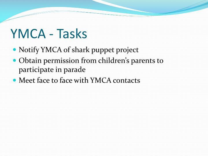 YMCA - Tasks