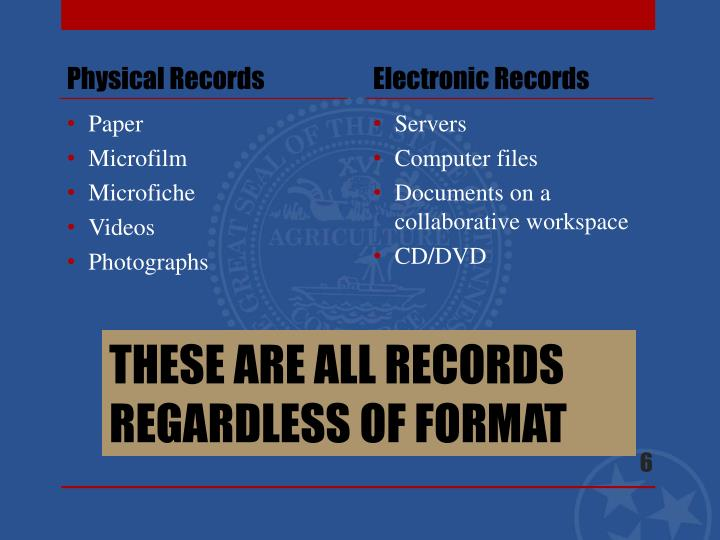 Physical Records