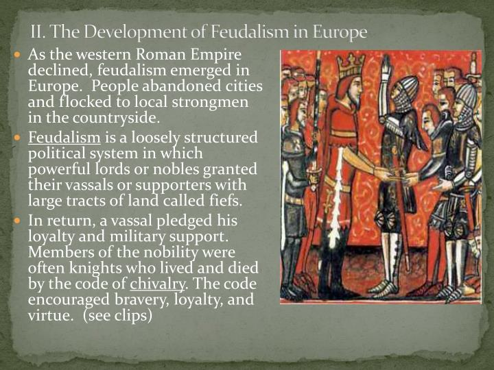 Ii the development of feudalism in europe