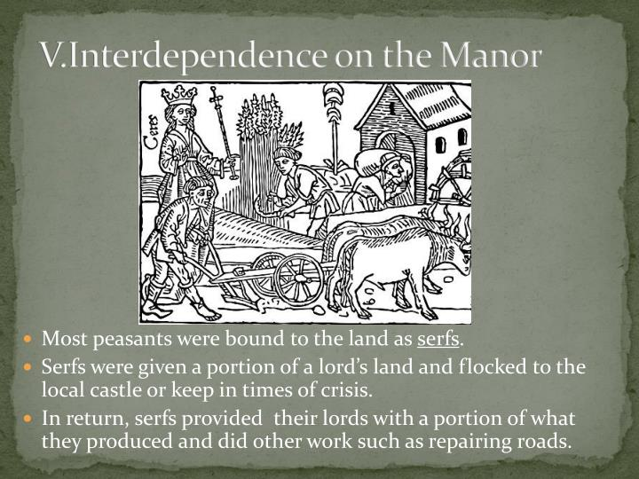 V.Interdependence on the Manor