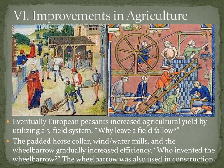 VI. Improvements in Agriculture
