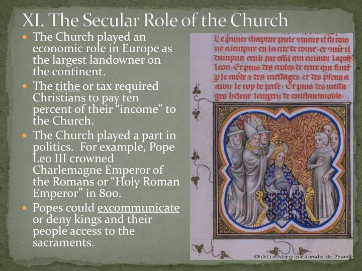 XI. The Secular Role of the Church