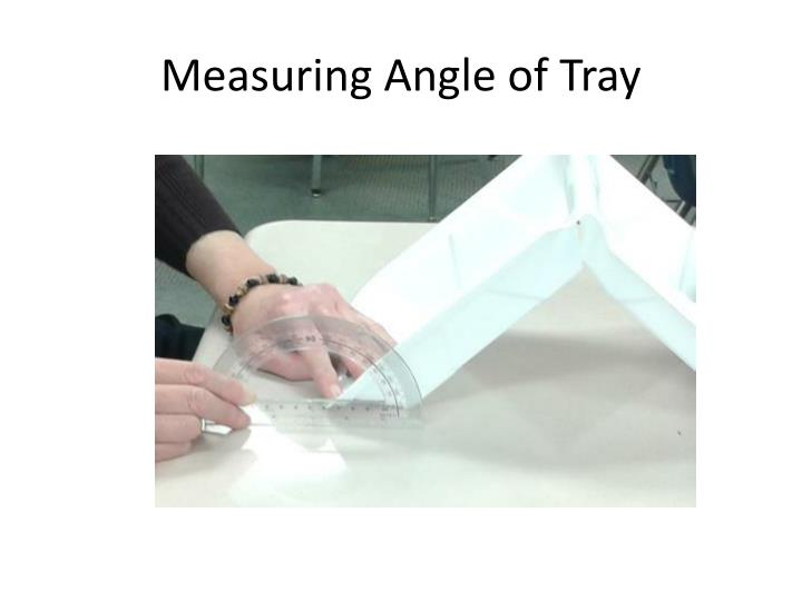 Measuring Angle of Tray