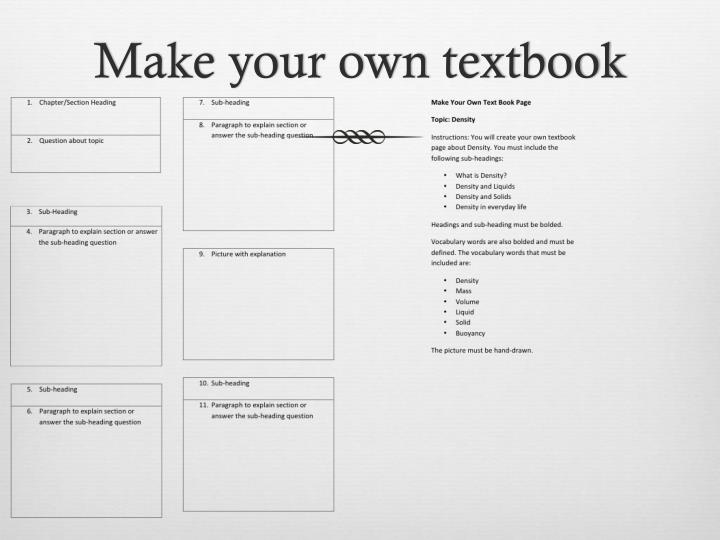 Make your own textbook