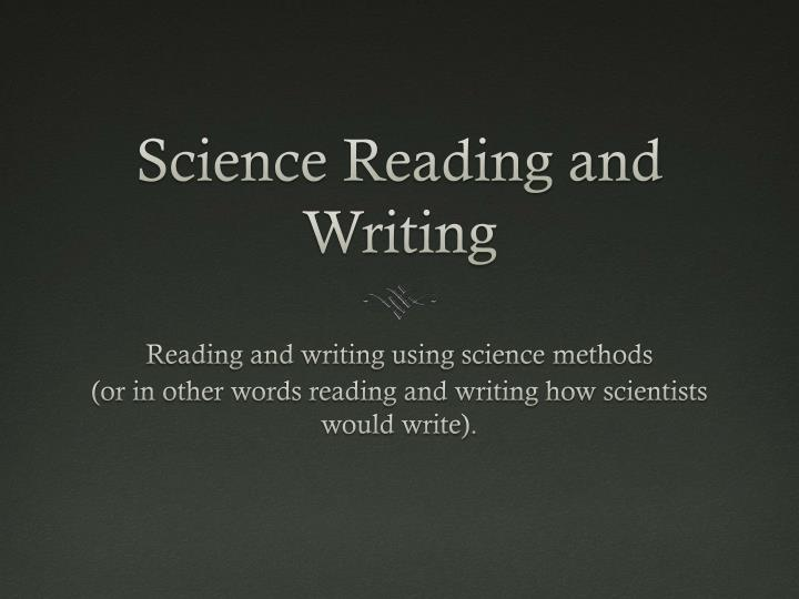 Science Reading and Writing