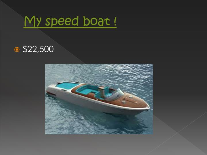 My speed boat !