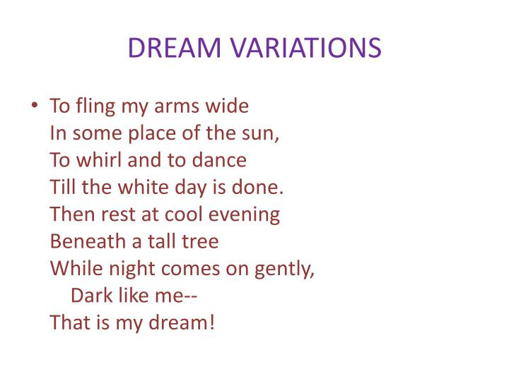 DREAM VARIATIONS
