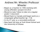 andrew mr wheeler professor wheeler