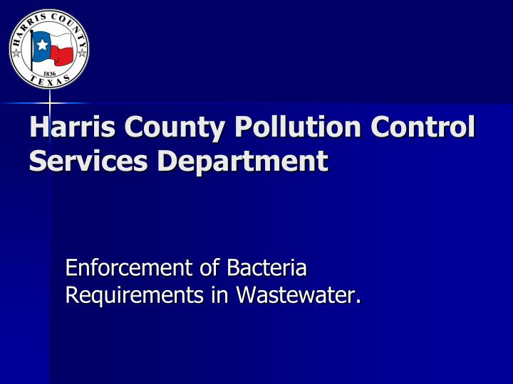 Harris county pollution control services department