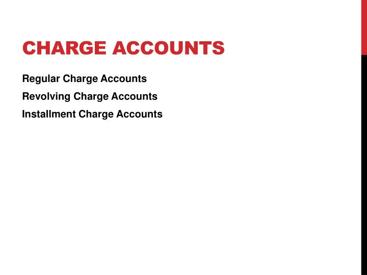 Charge Accounts
